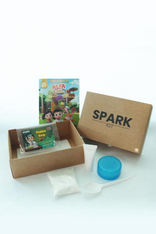 STEM Kit Experiment For Kids At Home - Kit #9 : Flubber Soap Kit